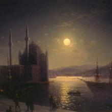 Лунная ночь на Босфоре. 1894 год.