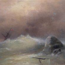 Бурное море. 1887 год.