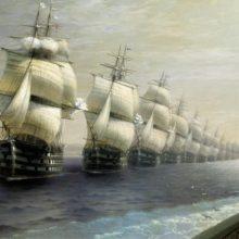 Смотр Черноморского флота в 1849 году. 1886 год.