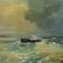 Перед Алупкой в Крыму (Лодка в море). 1894 год.