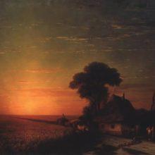 Закат солнца в Малороссии. 1863 год.