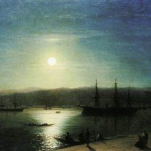 Босфор в лунную ночь. 1874 год.