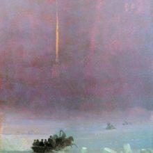 Петербург. Переправа через Неву. 1870-е год.