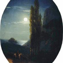 Лунная ночь. Всадник. 1858 год.