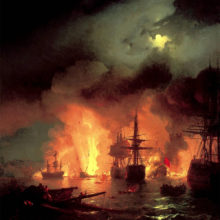 Самые известные полотна Айвазовского о морских боях и легендарных сражениях