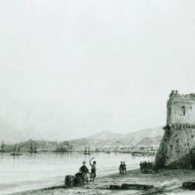 Генуэзская башня. 1845 год.