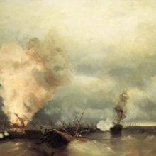 Морское сражение при Выборге 29 июня 1790 года. 1846 год.