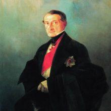 Портрет сенатора Александра Ивановича Казначеева (1788-1880), предводителя дворянства Таврической губернии. 1848 год.