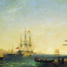 Порт ла Валетта на острове Мальта. 1844 год.