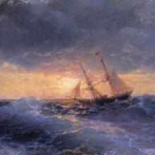 Море. Закат. 1896 год.