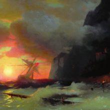 Кораблекрушение у Афонской горы. 1856 год.