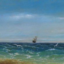 Парусник в море. 1881 год.