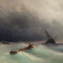 Буря на море. 1873 год.