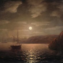 Лунная ночь на Чёрном море. 1855 год.