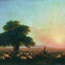 Отара овец (Стадо овец). 1857 год.