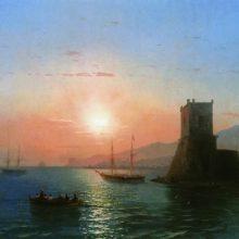 Феодосия. Закат солнца. 1865 год.
