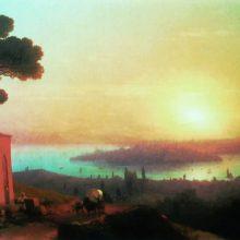 Вид Константинополя с Чамлича. 1870-е год.