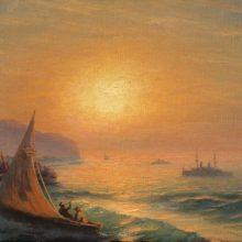 Закат на море. 1899 год.