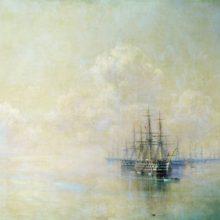 Эскадра Черноморского флота перед выходом на Севастопольский рейд. 1895 год.