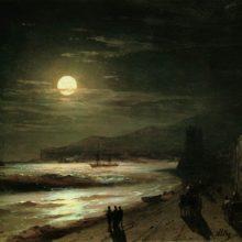 Лунная ночь. Берег моря. 1885 год.