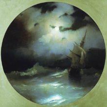 Море в лунную ночь. 1858 год.