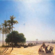 Караван в оазисе. Египет. 1871 год.