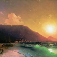 Морской вид. 1867 год.