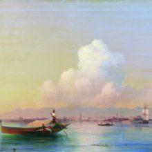 Вид Венеции со стороны Лидо. 1855 год.