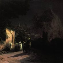 Лунная ночь. У родника. 1877 год.
