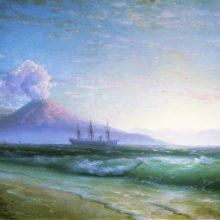 Неаполитанский залив ранним утром. 1897 год.