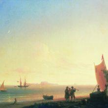 Вид на острове Капри. 1845 год.