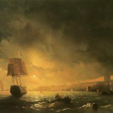 Вид Одессы в лунную ночь. 1846 год.