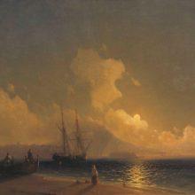 Ночь на море.