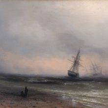 Морской пейзаж в Крыму. 1866 год.