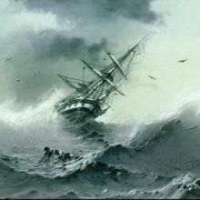 Тонущий корабль. 1854 год.