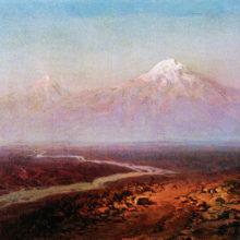 Река Аракс и Арарат. 1875 год.