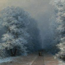 Зимний пейзаж. 1876 год.