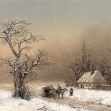 Зимний пейзаж. 1856 год.