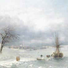 Зимний пейзаж. 1874 год.