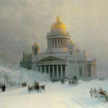 Исаакиевский собор в морозный день. 1891 год.